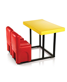OK Play Table Chair Set - Yellow Red
