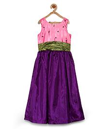 Pspeaches Stylish Long Dress - Pink & Purple