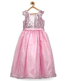Pspeaches Indowestern Shimmer Long Dress - Pink