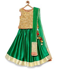 Pspeaches Beautiful Festive Lehenga Choli & Dupata - Green