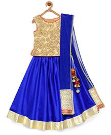 Pspeaches Beautiful Festive Lehenga Choli & Dupata - Blue