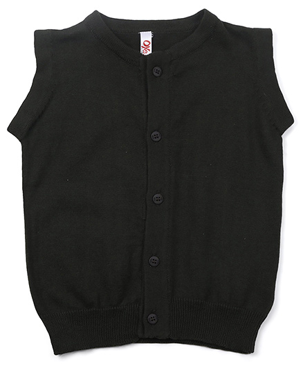 Oye Sleeveless Solid Colour Sweater - Dark Green