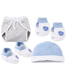 Babyoye Infant Accessories Set 4 Pcs - Multi Coloured
