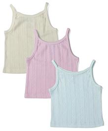 Snuggles Singlet Slips Pack of 3 - White Beige Sky Blue