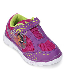 Dora Sneakers With Velcro Closure - Magenta