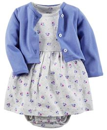 Carter's 2-Piece Bodysuit Dress & Cardigan Set