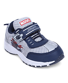 Spider Man Printed Casual Shoes - Blue Grey