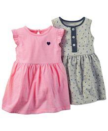 Carter's 2-Pack Dress Set - Grey Pink