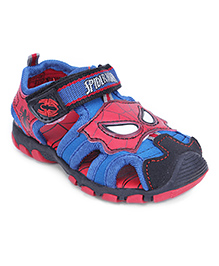 Spider Man Sandals With Velcro Closure - Black Blue