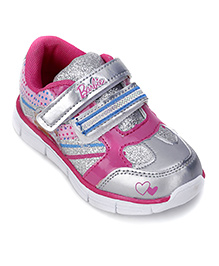 Barbie Sneakers With Velcro Closure - Pink And Silver