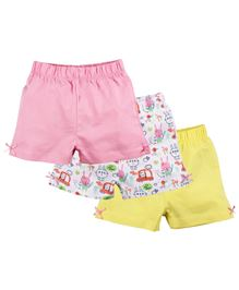 Baby Pure All Over Print Shorts Pack of 3 - Multi Colour