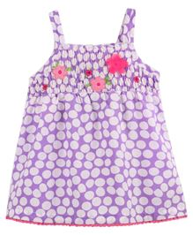 BabyPure Infant Singlet Dress With Polka Dots - Mauve