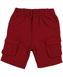 BabyPure Infant Shorts With Pockets - Red
