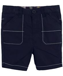 BabyPure Infant Shorts With Stitch Detailing - Navy