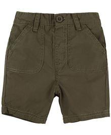 BabyPure Infant Solid Color Shorts - Khaki
