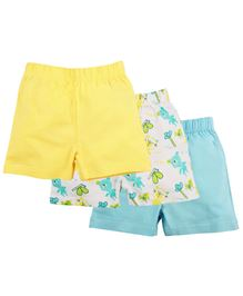 Baby Pure Shorts Pack of 3 - Yellow Blue White