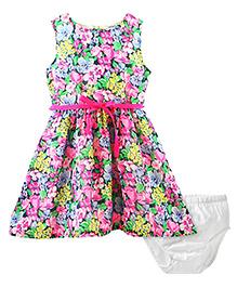 Carter's Floral Crepe Dress
