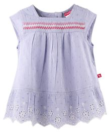 Fisher Price Apparel Cap Sleeve Embroidered Top - Blue