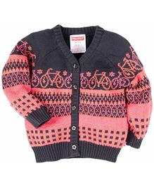 Fisher Price Apparel Full Sleeves Cardigan Sweater - Pink