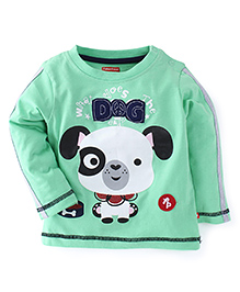 Fisher Price Apparel Full Sleeves Top Puppy Print - Green