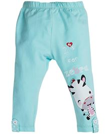 Fisher Price Apparel Legging With Zebra Print - Turquoise Blue