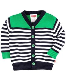 Fisher Price Apparel Full Sleeves Striped Sweater - Green & White