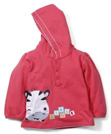 Fisher Price Apparel Giggle Patched Sweatjacket With Hood - Red
