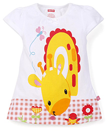 Fisher Price Apparel Short Sleeves Printed Top - White Yellow