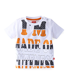 Fisher Price Apparel Printed Half Sleeve Tee - White