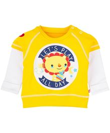 Fisher Price Apparel Sweatshirt With Lion Print - Yellow