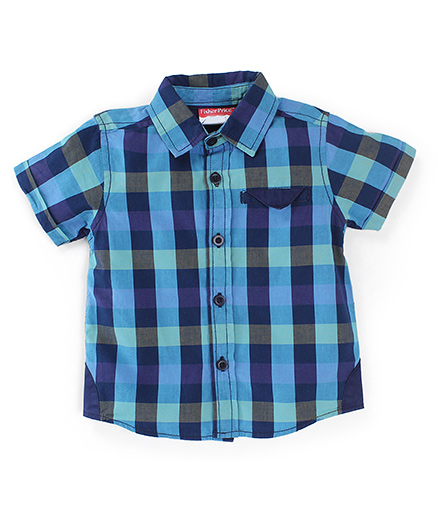 Fisher Price Apparel Half Sleeves Checked Shirt - Blue