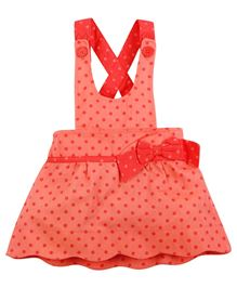 Fisher Price Apparel Dungaree Style Skirt With Bow  - Peach