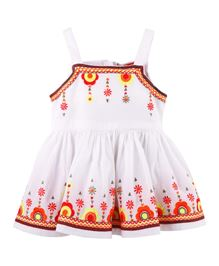Fisher Price Apparel Singlet Dress With Embroidery - White