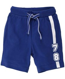 Fisher Price Apparel 78 Print Shorts With Drawstring - Blue