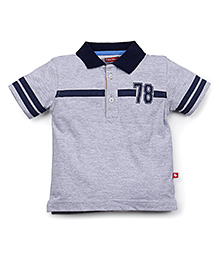 Fisher Price Apparel Half Sleeves Polo T-Shirt - Grey