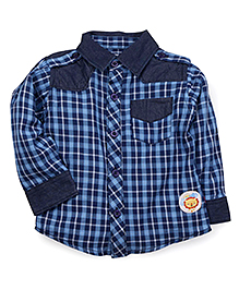 Fisher Price Apparel Full Sleeves Checked Shirt - Blue