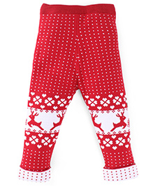 Fisher Price Apparel Winter Wear Knitted Jeggings - Red