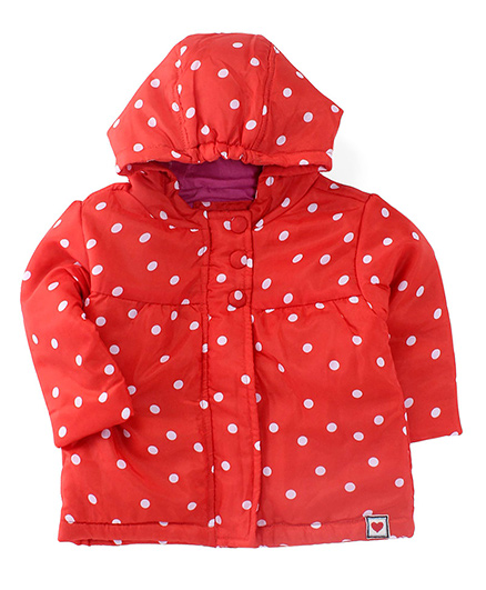 Ladybird Full Sleeves Hooded Jacket - Red