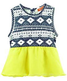 Fisher Price Apparel Printed Half Sleeve Dress - Lemon Yellow