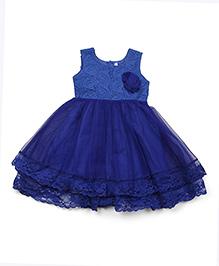 Lil'l Posh Sleeveless Frock - Blue