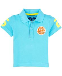 Ladybird Infant Polo T-Shirt With Print - Blue