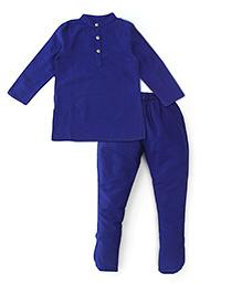 Lil'l Posh Full Sleeves Kurta Pyjama Set - Blue
