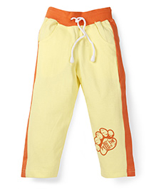 Oye Track Pant With Ribbed Waistband - Lime Yellow