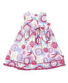 Nino Bambino Sleeveless Dress Floral Print - Multicolor