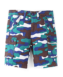 Snuggles Shorts - Green Blue Brown