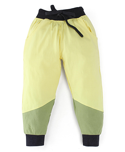 Oye Track Pants With Drawstring - Yellow Green