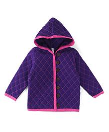 Oye Full Sleeves Hooded Jacket - Purple