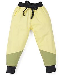 Babyoye Track Pants With Drawstring - Green Yellow Black