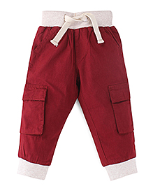 Oye Track Pants With Drawstring - Red Cream