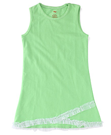 Snuggles Sleeveless Dress - Green